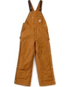 "Carhartt Lined Duck Bib Overalls - Reg, Big. Up to 50"" waist, , hi-res"