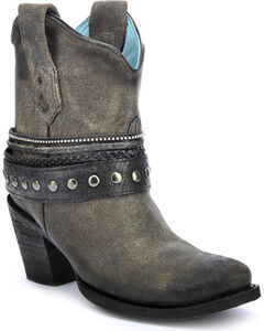 Corral Women's Studded Strap Ankle Boots - Round Toe, , hi-res