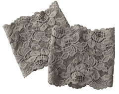 Shyanne Women's Grey Lace Stretch Boot Cuffs, , hi-res