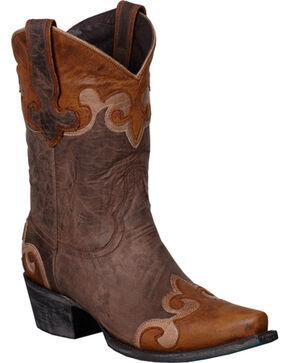 Lane Dakota Short Cowgirl Boots - Snip Toe, Brown, hi-res