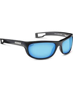 Hobie Men's Cobalt Mirror and Satin Black Cruz-R Polarized Sunglasses , , hi-res