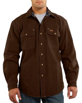 Carhartt Canvas Work Shirt Jacket, Brown, hi-res