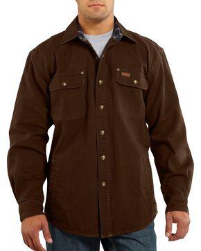 Carhartt Canvas Work Shirt Jacket, Brown, hi-res