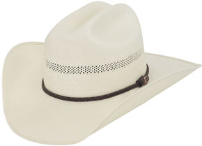 Justin 50X Travis Straw Cowboy Hat, Natural, hi-res