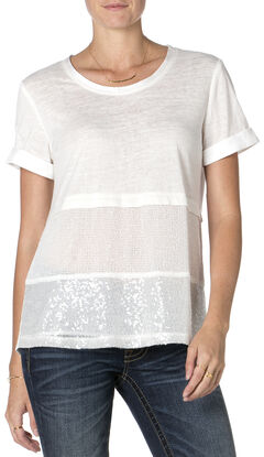 Miss Me Mix-Match Short Sleeve T-Shirt, Off White, hi-res