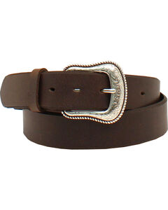 Nocona Women's Basic Belt, Dark Brown, hi-res