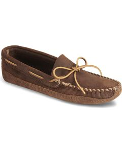 Minnetonka Distressed Leather Moccasins, , hi-res