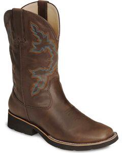 Roper Boys' Brown Rider Cowboy Boot - Square Toe, Brown, hi-res