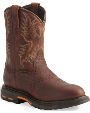 Ariat H2O Workhog Western Work Boots - Composition Toe, Copper, hi-res