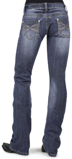 Stetson Women's 818 Contemporary X-Stitch Bootcut Jeans - Plus, , hi-res