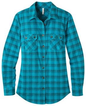 Mountain Khakis Women's Bermuda Peaks Flannel Shirt , Blue, hi-res