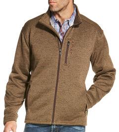 Ariat Men's Light Brown Caldwell Full Zip Sweater , , hi-res