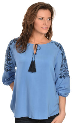 Ariat Women's Lucy Embroidered Top, , hi-res