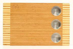 M&F Western Wooden Cutting Board with Holders, Multi, hi-res