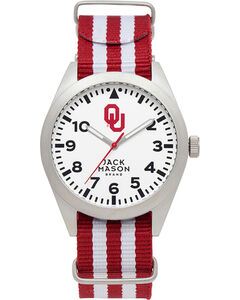 Jack Mason Men's University of Oklahoma Striped Nato Strap Watch , , hi-res