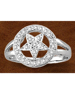 Kelly Herd Sterling Silver Rhinestone Star Ring, , hi-res