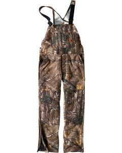 Carhartt Men's Quilt-Lined Camo Bib Overalls - Tall, Camouflage, hi-res