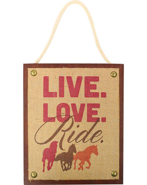 BB Ranch Live Love Ride Wall Decor, Multi, hi-res