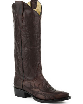 Stetson Women's Violet Burgundy Western Boots - Snip Toe, Wine, hi-res