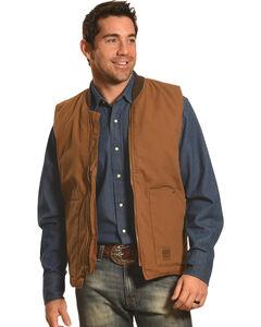 Crazy Cowboy Men's Brown Work Vest - Big and Tall, , hi-res