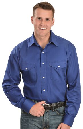 Exclusive Gibson Trading Co. Blue Western Shirt - Tall, Royal, hi-res