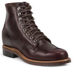 Chippewa Men's 1939 Original Burgundy Service Boots - Round Toe, , hi-res