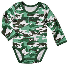 Wrangler Infant Boys' Long Sleeve Green Camo Bodysuit, , hi-res