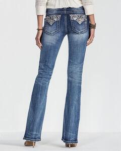Miss Me Women's Blue Lead The Way Mid-Rise Jeans - Boot Cut , Blue, hi-res