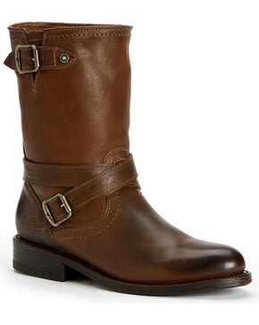 Frye Women's Jayden Cross Engineer Boots - Round Toe, Taupe, hi-res
