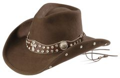 Bullhide Moment for Life Bling Cross Concho Cowboy Hat, , hi-res