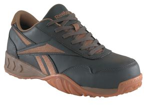 Reebok Men's Bema Work Shoes - Composition Toe, Brown, hi-res