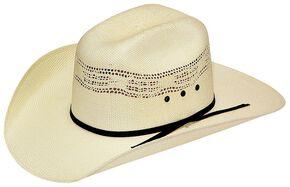 Boys' Twister Bangora Straw Cowboy Hat, Cream, hi-res