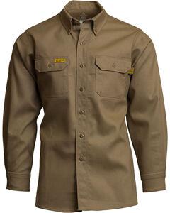 Lapco Men's Khaki FR Uniform Shirt - Tall , , hi-res