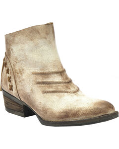 Circle G Burnished Taupe Short Boots - Round Toe, , hi-res