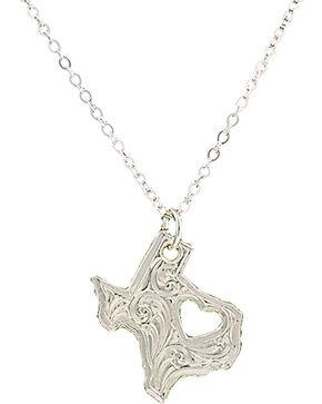 """Montana Silversmiths """"I Heart Texas"""" Necklace, Silver, hi-res"""