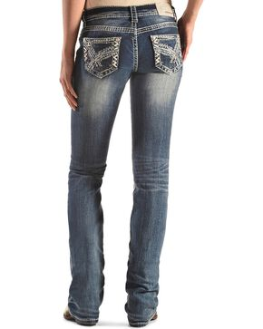 Grace in LA Embellished Pocket Jeans - Bootcut , Denim, hi-res