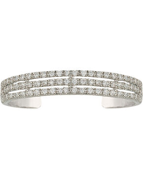 Montana Silversmiths Women's Triple the Delight Cuff Bracelet, Silver, hi-res