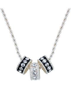Montana Silversmiths Crystal Shine Three Ring Necklace, , hi-res