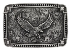 Montana Silversmiths Tied at the Corner Soaring Eagle Buckle , , hi-res