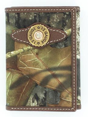 Nocona Kids' Tri-Fold Shotgun Shell Wallet, Mossy Oak, hi-res