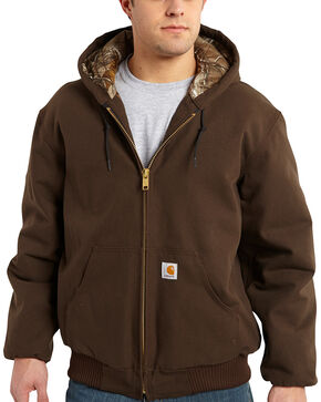 Carhartt Men's Dark Brown Huntsman Active Jacket - Big & Tall, Dark Brown, hi-res