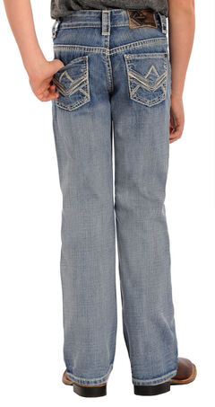 Rock and Roll Cowboy Boys' Light Wash BB Gun Bootcut Jeans, , hi-res