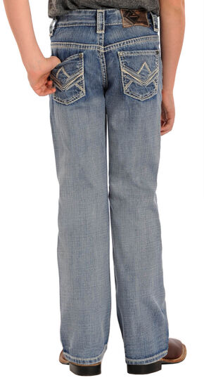 Rock and Roll Cowboy Boys' Light Wash BB Gun Bootcut Jeans, Indigo, hi-res