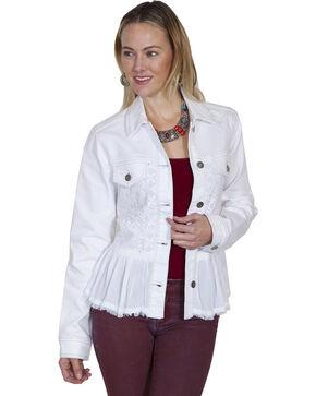 Skully Women's Denim Lace Jacket, , hi-res