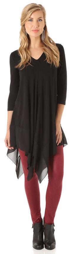 Wrangler Women's Black 3/4 Sleeves Tunic , , hi-res