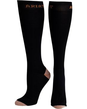 Ariat Women's Tall Boot Socks, Black, hi-res