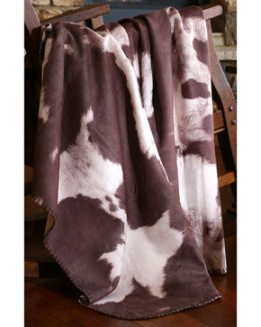 Carstens Chocolate Cow Hide Throw, Brown, hi-res