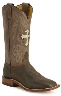 Tony Lama Cross Inlay Cowgirl Boots, , hi-res