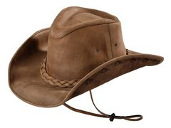Bullhide Men's Melbourne Leather Hat, , hi-res
