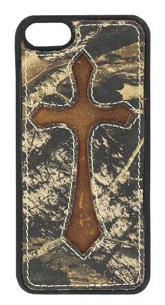 Nocona Mossy Oak Cross Leather iPhone 5 Phone Case, , hi-res